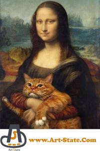 گربه ای در آغوش مونالیزا