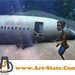 سقوط هواپیمای ایرباس در انیمیشن مروارید سرخ